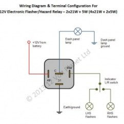 Electronic Flasher Unit Wiring Diagram Spal Cooling Fan 12v Flasher/hazard Relay 21wx2 + 5w | 12 Volt Planet